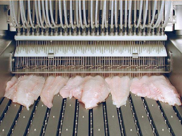 Стол охлаждения инъектирования мясо